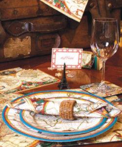 Caspari Plates and Napkins