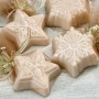 Shimmery white soaps kissed with gold and festively scented with Timber Lake, brisk mountain air with a hint of frankencense and myrrh. Gentle and all-natural.