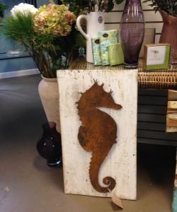 seahorse wood art