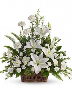 SYM. Funeral Basket 4. White